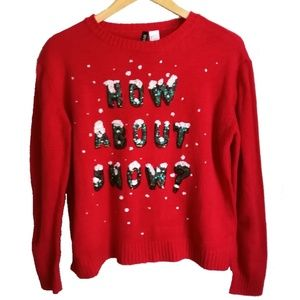 Ugly Christmas Sweater Red & Green, size L